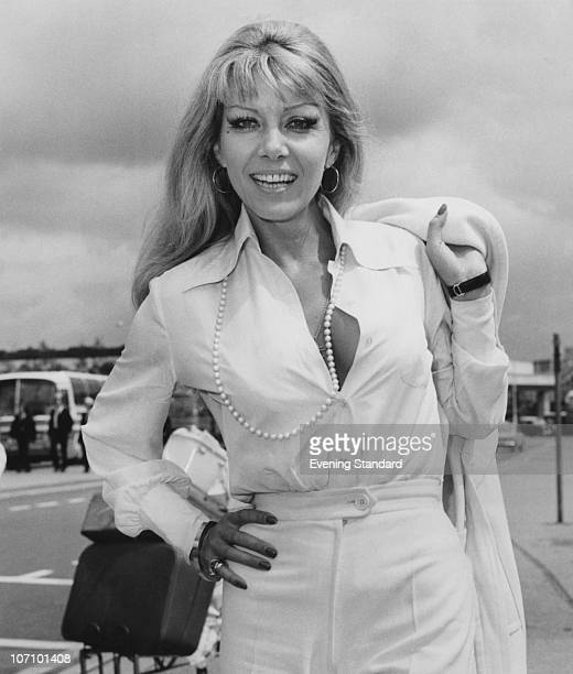 Polishborn actress Ingrid Pitt at London Airport 17th July 1973 She is flying to the Taormina Film Festival in Sicily She made a name for herself in...