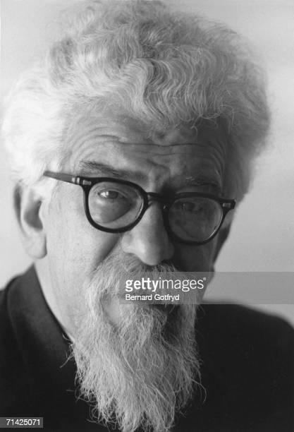 Polish-born German-American rabbi and social activist Abraham Heschel , 1968.
