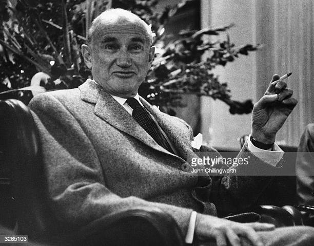 Polishborn US film producer Samuel Goldwyn founder of MGM studios Original Publication Picture Post 8792 Sam Goldwyn pub 1956