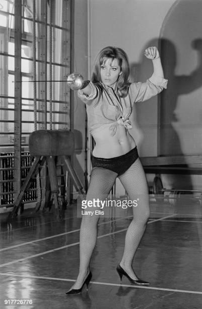 PolishBritish actress and author Ingrid Pitt learning how to fence UK 7th March 1968