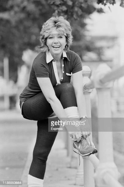 PolishBritish actress author and writer Ingrid Pitt getting ready for a jog UK 5th September 1983