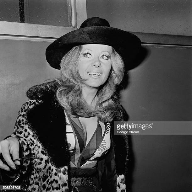 PolishBritish actress Ingrid Pitt arrives at London Airport from Rome 28th January 1971