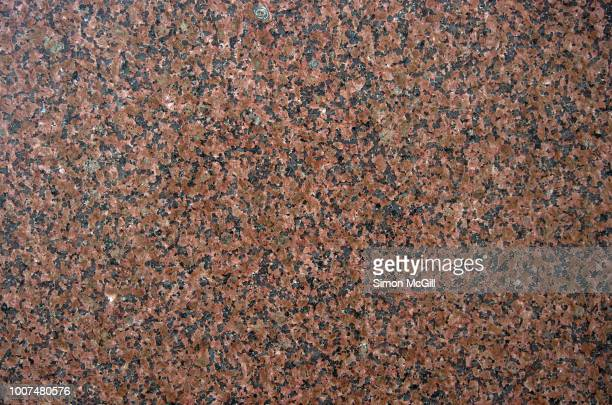 polished pink granite slab - stone wall stock pictures, royalty-free photos & images