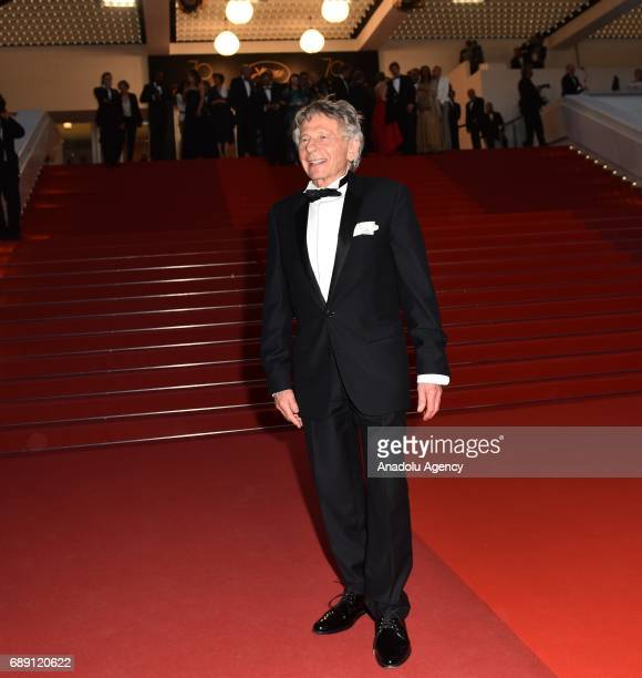 PolishFrench actor Roman Polanski leaves the screening of the film D'apres Une Histoire Vraie out of competition at the 70th annual Cannes Film...