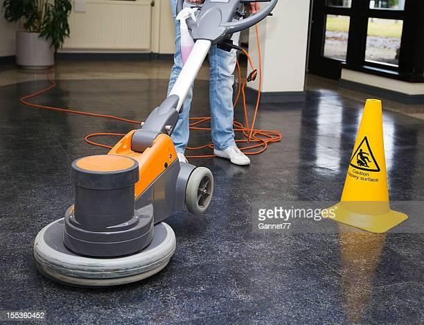 Polishing the floor