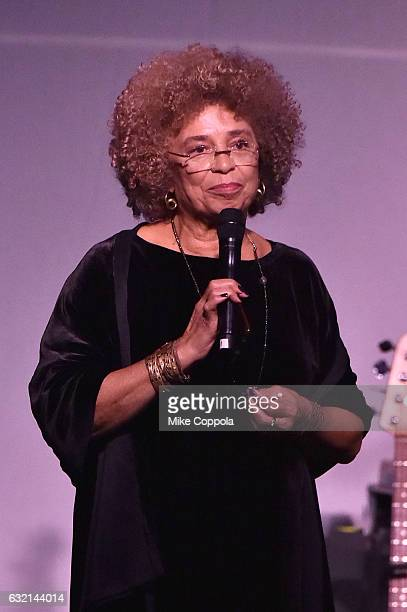 Politcal Activist Angela Davis speaks onstage at the Busboys and Poets' Peace Ball: Voices of Hope and Resistance at National Museum Of African...