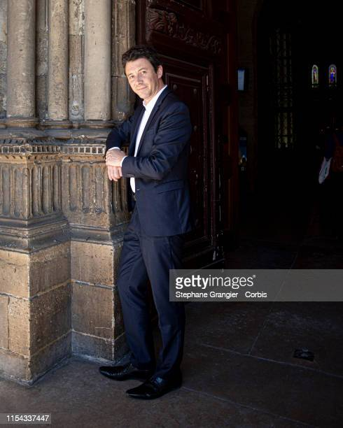 Politic, Benjamin Griveaux poses during a photo-shoot on May 15, 2019 in Paris, France.