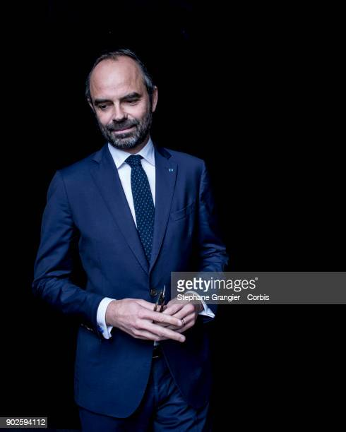 Politic Edouard Philippe poses during a photoshoot on December 18 2017 in Paris
