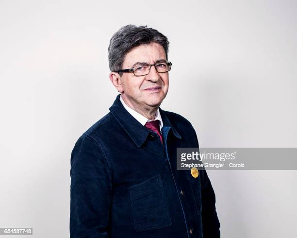 Politic Jean Luc Melenchon poses during a photoshoot on March 05 2017 in Paris France