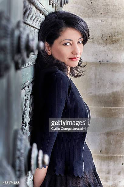 Politic Jeannette Bougrab is photographed for Gala on May 12 2015 in Paris France