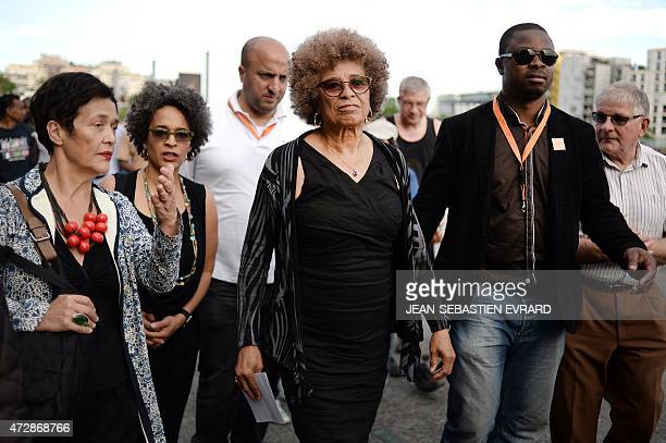 Political activist Angela Davis attends a ceremony to commemorate the abolition of slavery on May 10, 2015 in Nantes, western France. The city of...