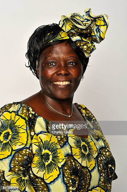 Political activist DrWangari Muta Maathai poses for a portrait during the 40th NAACP Image Awards held at the Shrine Auditorium on February 12 2009...