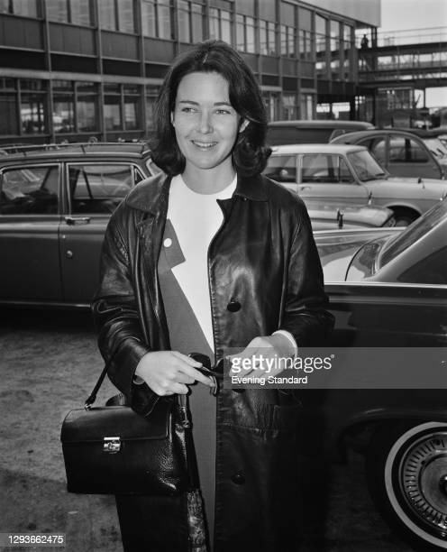 Political activist Judith Todd, the daughter of former Rhodesian Prime Minister Garfield Todd, at London Airport, UK, 8th March 1966.