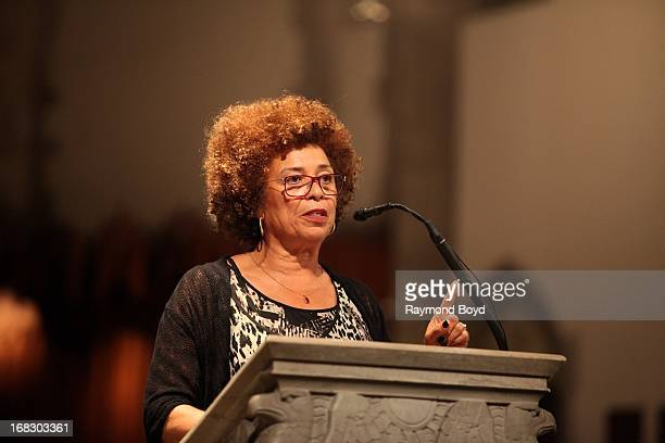 Political activist, scholar and author Angela Davis, speaks at the University Of Chicago's Rockefeller Chapel in Chicago, Illinois on MAY 03, 2013.