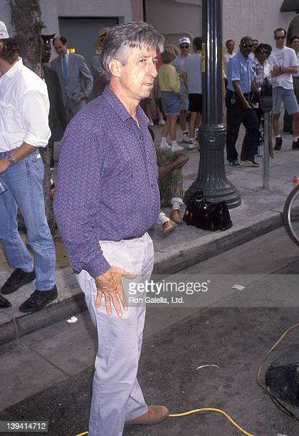 Political activist Tom Hayden attends the Democratic Party's ThreeCity Tour to Register Voters for the 1992 Presidental Election on October 3 1992 at...