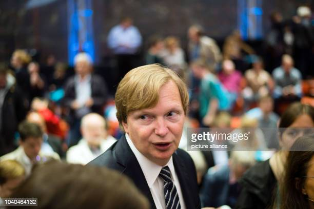 US political adviser Jim Messina chats with people after his keynote speech at the Campaign Camp of German political party SPD in Berlin Germany 05...