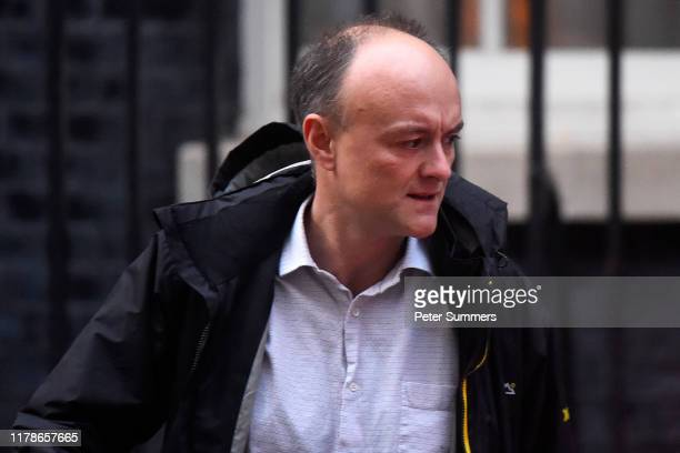 Political advisor Dominic Cummings leaves 10 Downing Street on October 28 2019 in London England EU leaders have announced that an agreement to...