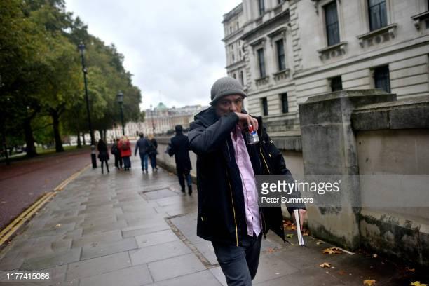Political advisor Dominic Cummings walks through Westminster on October 21 2019 in London England Prime Minister Boris Johnson is pressing Parliament...
