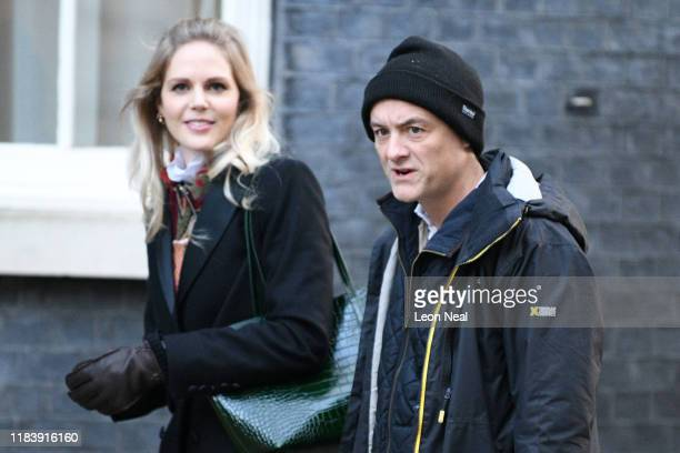 Political advisor Dominic Cummings arrives in Downing Street on October 28 2019 in London England EU leaders have announced that an agreement to...