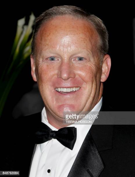 Political aide Sean Spicer attends the 69th Annual Primetime Emmy Awards Governors Ball at the Los Angeles Convention Center in Los Angeles on...