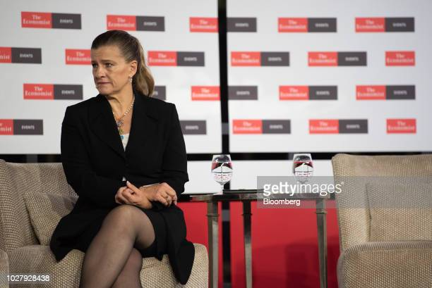 Political Analyst Ana Maria Salazar listens during an economic summit in Mexico City Mexico on Thursday Sept 6 2018 The summit discussed the state of...