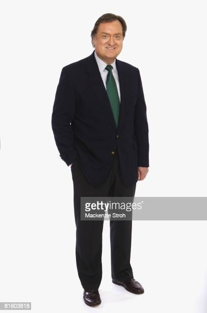 Political analyst and host of Meet The Press Tim Russert poses at a portrait session in New York City