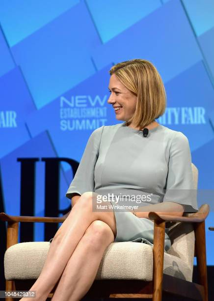 Political Analyst at NBC Elise Jordan speaks onstage at Day 1 of the Vanity Fair New Establishment Summit 2018 at The Wallis Annenberg Center for the...
