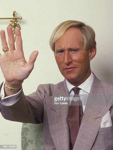 Political Analyst Roger Stone attends Exclusive Photo Session With Roger Stone on August 19 1987 at Alan Flusser Boutique in New York City