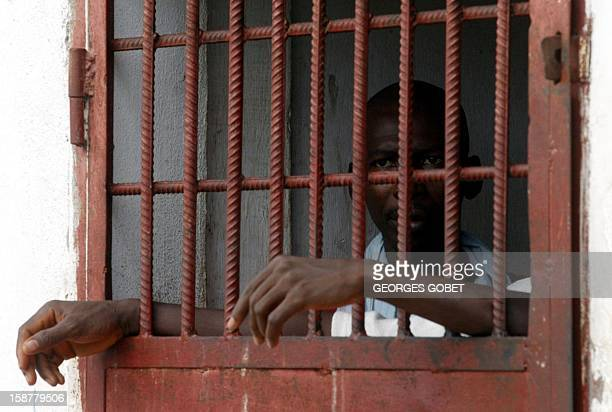 Political and war prisoners await their release from the investigation office's prison in Monrovia where they have been held for some months 11 July...