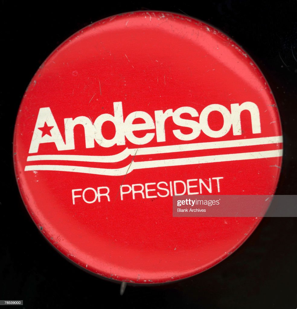 Political Campaign Button That Advocates Independant Candidate John Bayard Anderson For President In The 1980 US