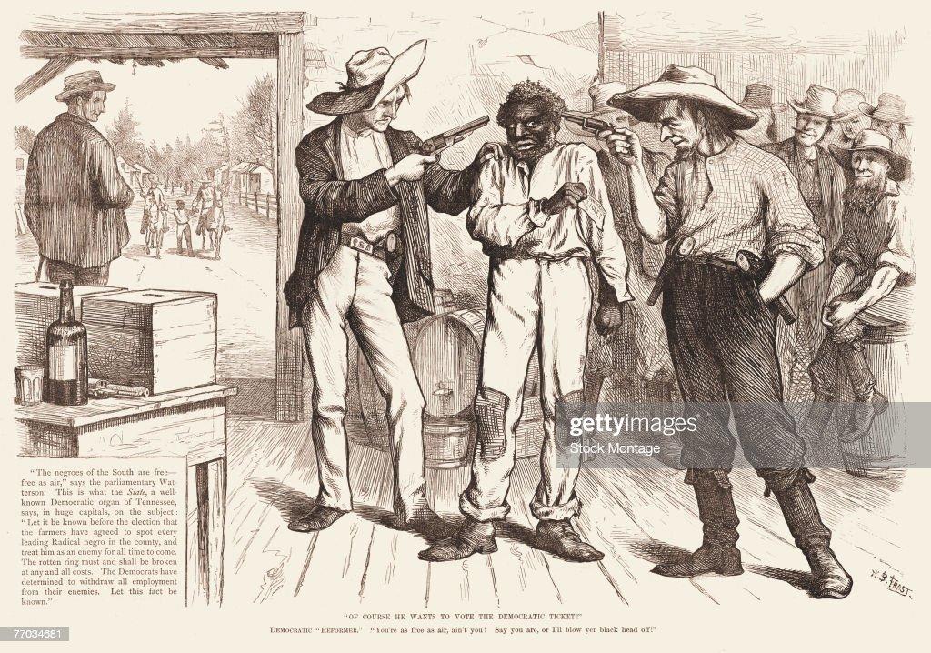 Voter Intimidation, 1876 : News Photo