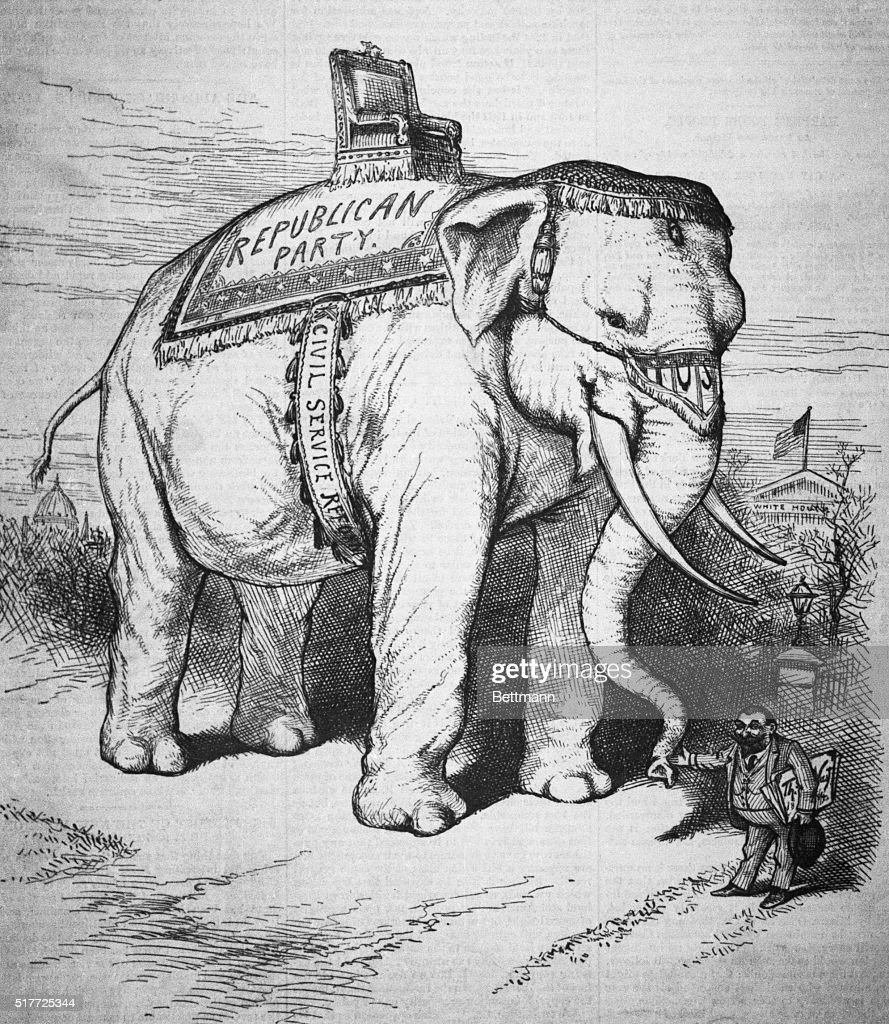 The sacred elephant by thomas nast pictures getty images political cartoon by thomas nast of the republican party symbol published in harpers weekly buycottarizona Images