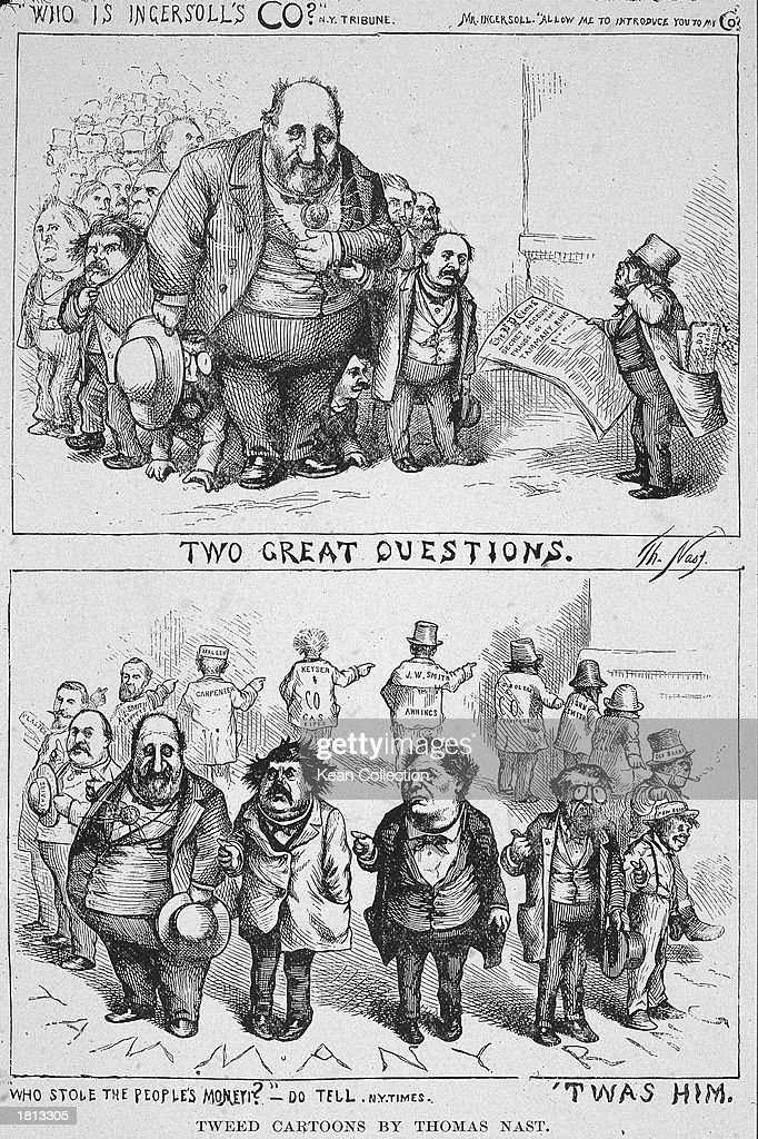 Political Cartoon By Thomas Nast Of William Marcy Boss