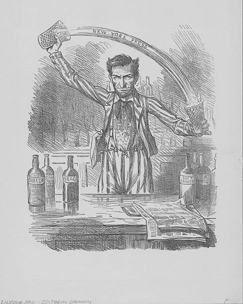 Abraham Lincoln Cartoon Pictures Getty Images