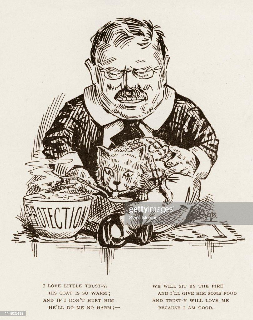 A political cartoon by Clifford Berryman about President