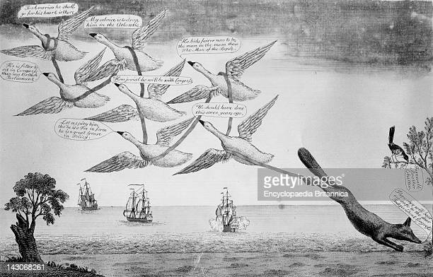 Political Cartoon On Charles Fox Cartoon Reflecting English View That Charles Fox Of The British Parliament Belonged In America During The American...