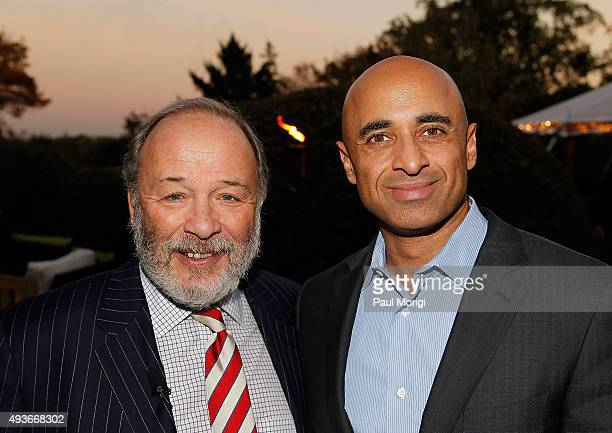TIME political columnist Joe Klein and His Excellency Yousef Al Otaiba the Ambassador of the United Arab Emirates to the United States of America...