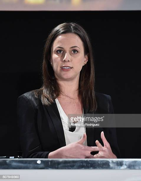 Political commentator Alicia Menendez speaks at the 2016 AOL MAKERS Conference at Terranea Resort on February 1 2016 in Rancho Palos Verdes California