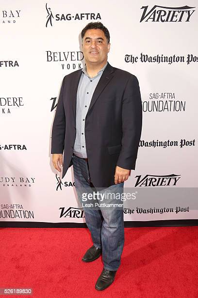 Political commentator and activist Cenk Uygur attends A Celebration of Journalism Party 2016 White House Correspondents' Association Dinner on April...