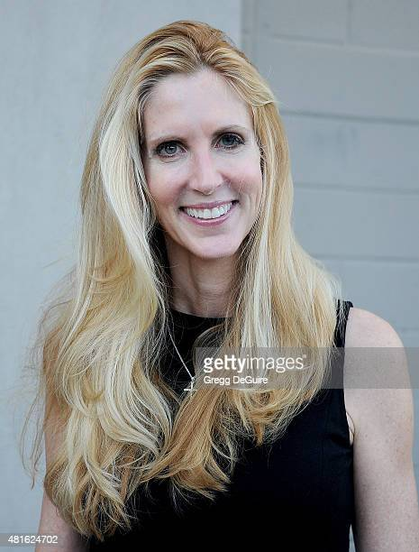Political commentator and author Ann Coulter arrives at the premiere of 'Sharknado 3 Oh Hell No' at iPic Theaters on July 22 2015 in Los Angeles...