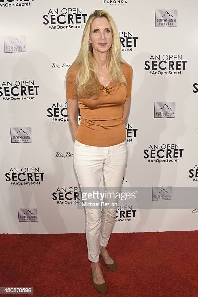 Political Commentator Ann Coulter arrives at AN OPEN SECRET Los Angeles Premiere on July 15 2015 in Beverly Hills California