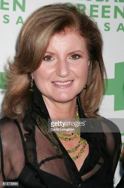 Political commentator Arianna Huffington attends the 12th annual Green Cross Millennium Awards at the Fairmont Miramar Hotel on June 14 2008 in Santa...