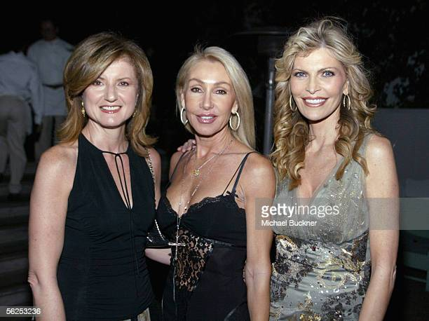 Political commentator Arrianna Huffington actress Linda Thompson and singer Shawn King attend the Shawn King CD listening series release of 'In My...