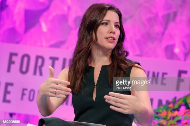 Political Commentator Mary Katharine Ham speaks onstage at the Fortune Most Powerful Women Summit Day 3 on October 11 2017 in Washington DC