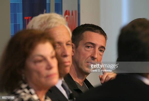 Political Commentator Ron Reagan Jr speaks during Time Warner's Political Conference 2008 at the Time Warner Center on October 14 2008 in New York...