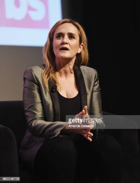 Political commentator Samantha Bee attends TBS' Full Frontal With Samantha Bee FYC Event at the Writers Guild Theater on May 24 2018 in Beverly Hills...