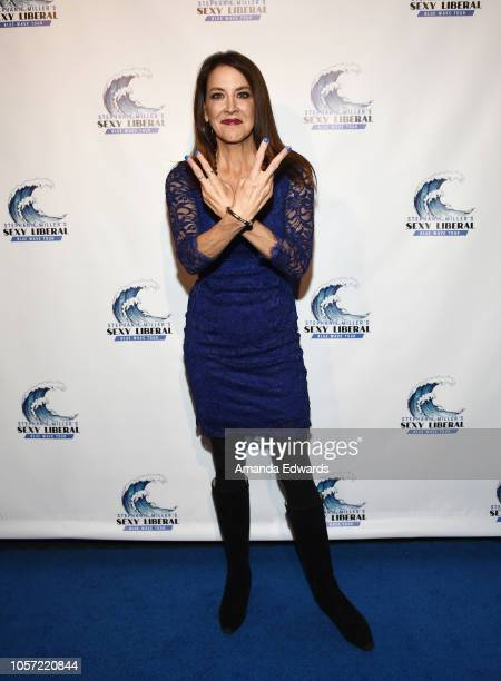 Political commentator Stephanie Miller attends the Los Angeles leg of Stephanie Miller's Sexy Liberal Blue Wave Tour at The Saban Theatre on November...