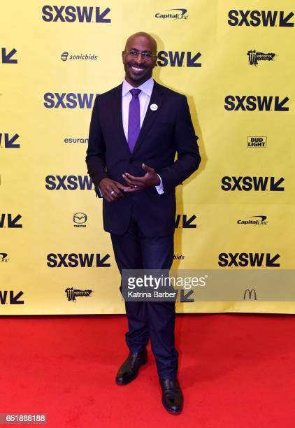 Political commentator Van Jones attends 'The Messy Truth with Van Jones' during 2017 SXSW Conference and Festivals at Austin Convention Center on...