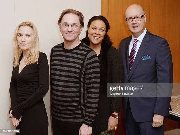 Political commentator/author Imogen Lloyd Webber actor Richard Thomas actress Linda Powell and NCTF Executive Director Bruce Whitacre attend The...