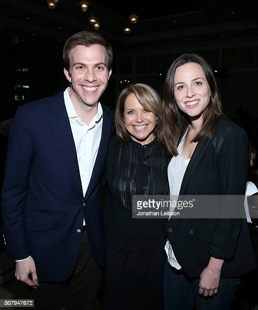 Political consultant Brian Goldsmith Journalist author and cofounder of Stand Up to Cancer Katie Couric and attend the 2016 MAKERS Conference Day 1...